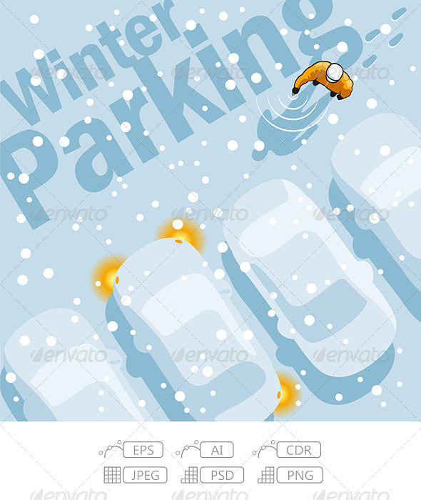 GraphicRiver Winter Parking 7216703