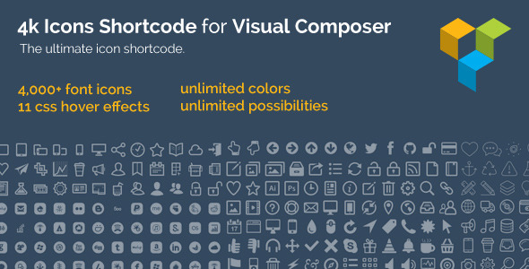 CodeCanyon 4k Icons Shortcode for Visual Composer 7216757