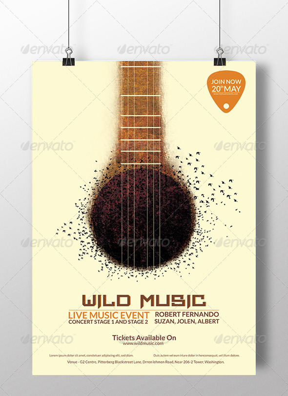 GraphicRiver Wild Music 7216884