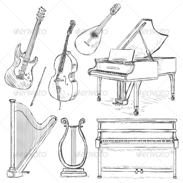 GraphicRiver Vector Set of Musical Instruments 7216923