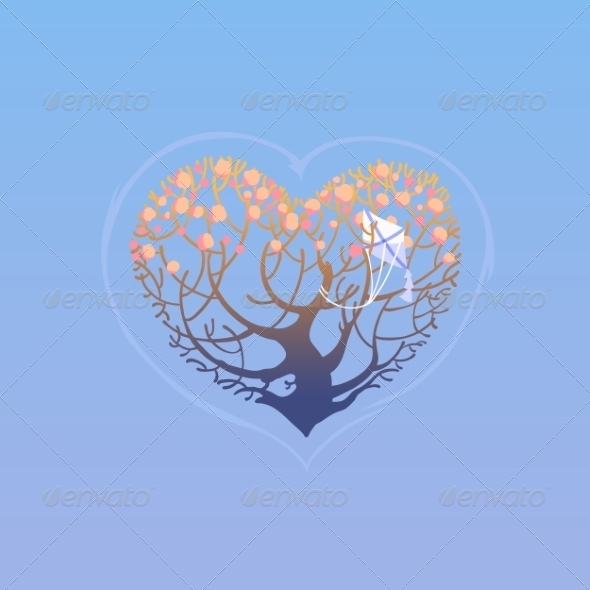 GraphicRiver Tree in Shape of Heart 7216925