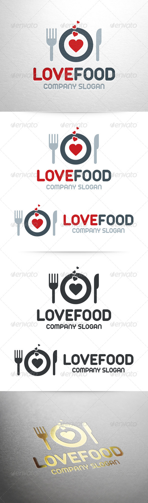 GraphicRiver Love Food Logo Template 7216938
