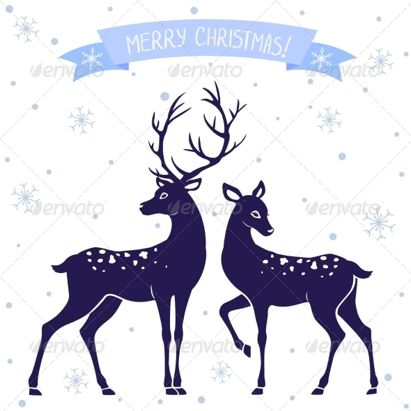 GraphicRiver Deer Christmas 7217001