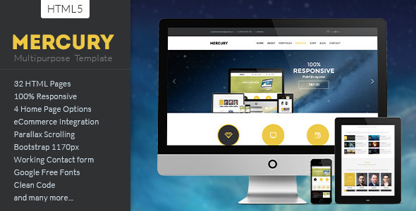 ThemeForest MERCURY Multipurpose HTML5 Template 7158604