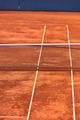 Empty Clay Tennis Court and Net - PhotoDune Item for Sale