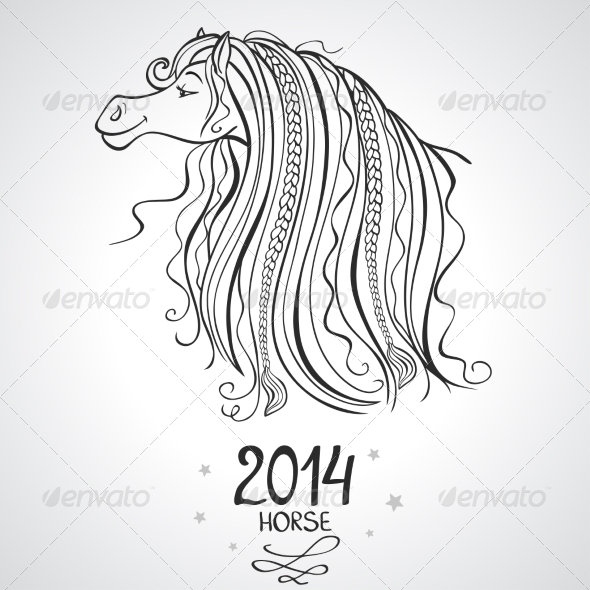 GraphicRiver Horse Horoscope 7217239