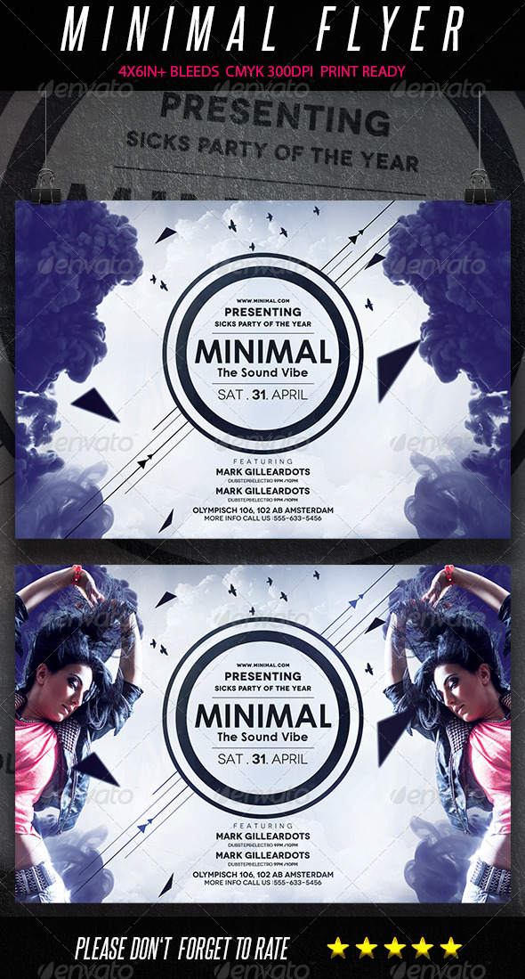 GraphicRiver Minimal Sound Flyer vol2 7217364