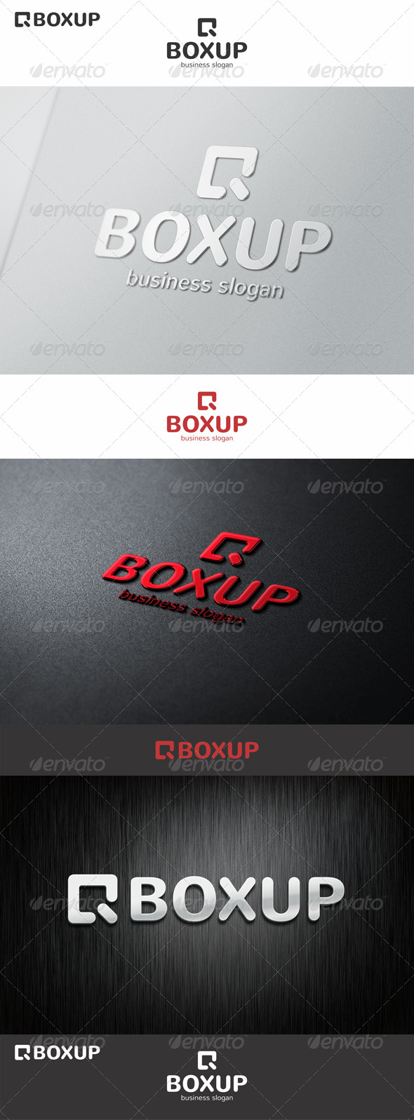 GraphicRiver Box Up Logo Arrow 7218157