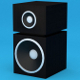 Hi-Fi, 2-way, Low Poly Speaker - 3DOcean Item for Sale