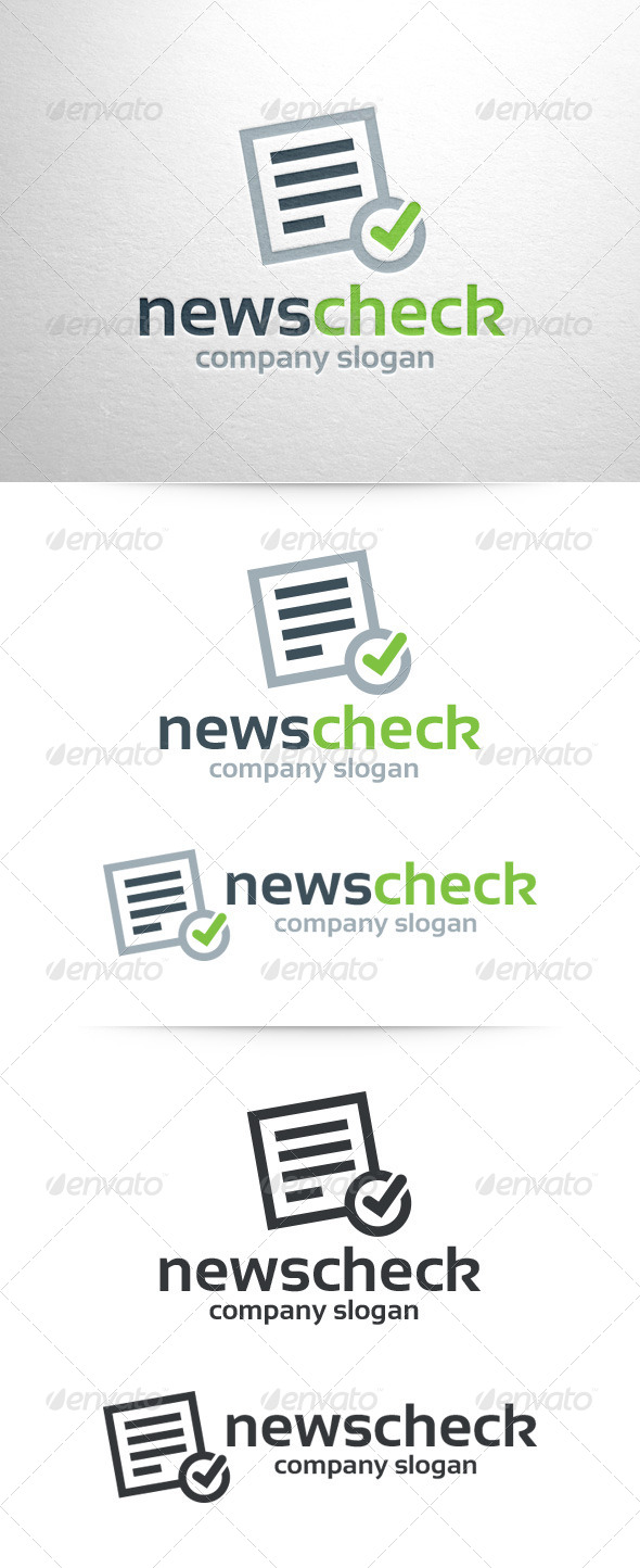 GraphicRiver News Check Logo Template 7218459