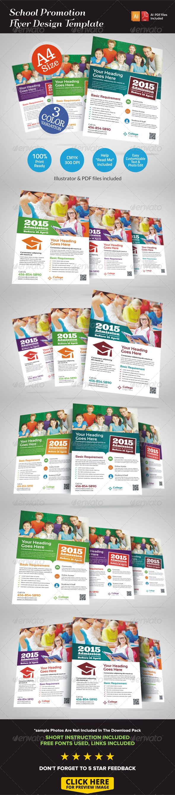 GraphicRiver School Promotion Flyer Ad 7218464