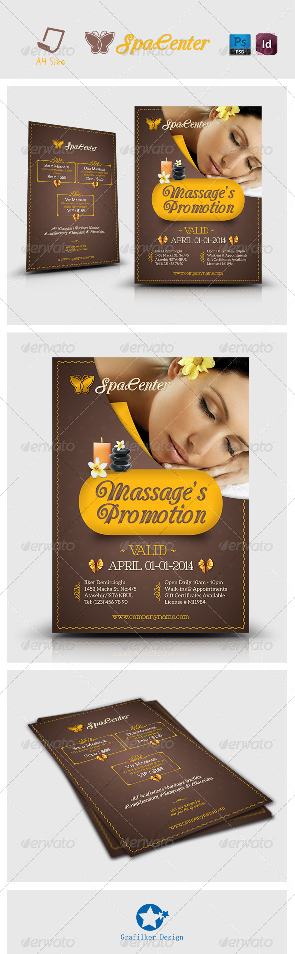 GraphicRiver Spa House Flyer Templates 7218518