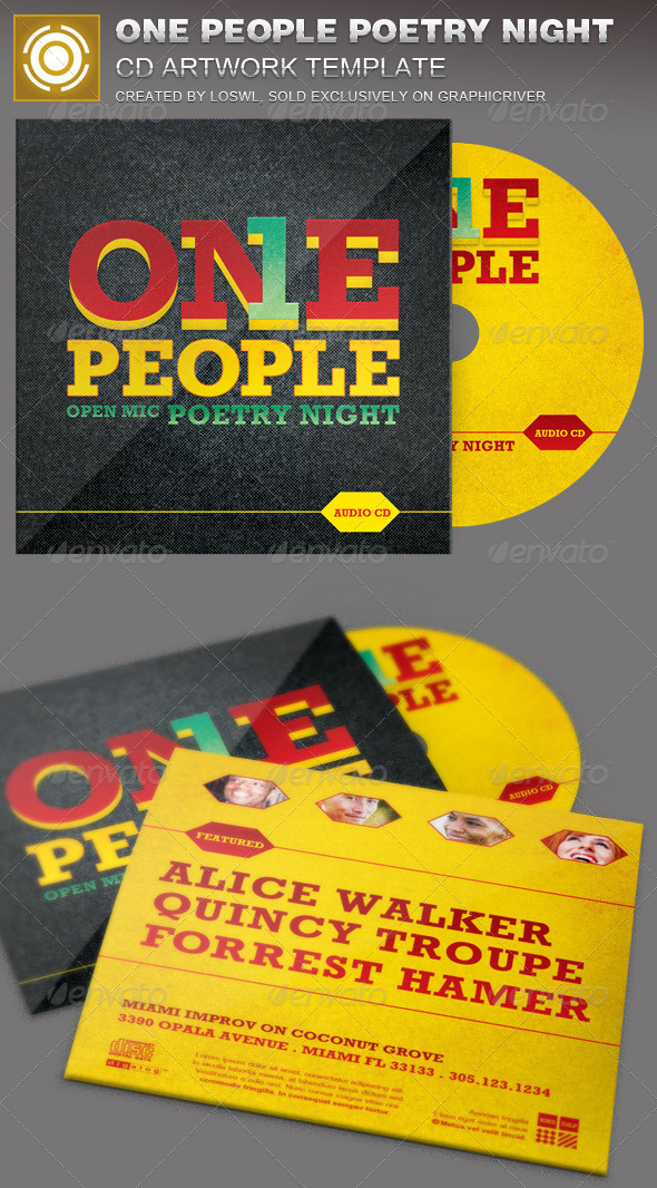 GraphicRiver One People Poetry Night CD Artwork Template 7218778