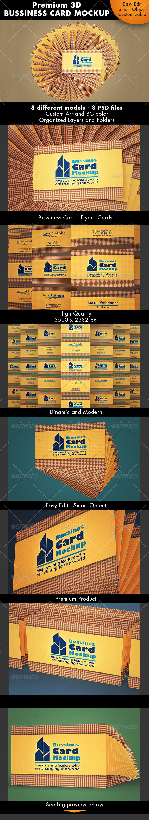 GraphicRiver Bussiness Card Mockup 7218849