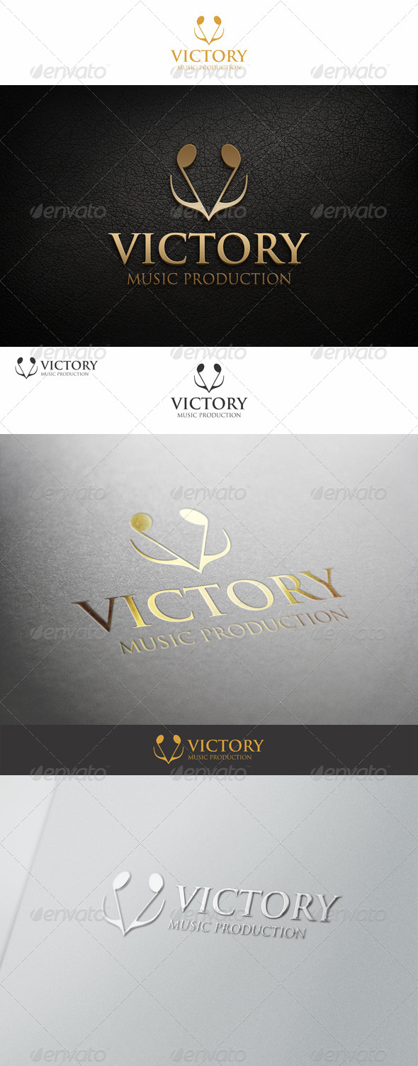 GraphicRiver Victory Logo Note Music Concept 7219165