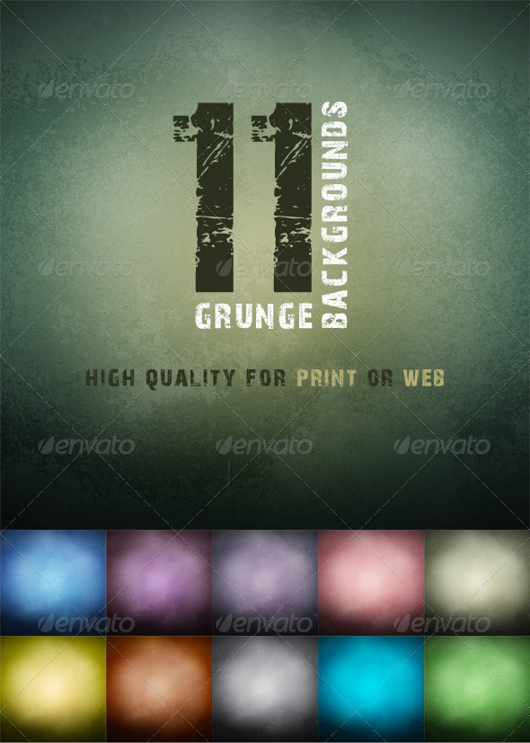 GraphicRiver 11 Grunge Backgrounds 7219498