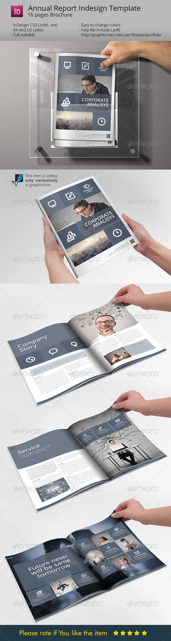 GraphicRiver System Indesign Brochure Template Sharp & Clean 7220012