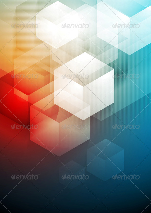 GraphicRiver Red and Blue Technology Art Design 7220210