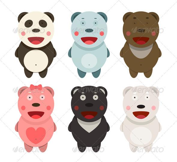 GraphicRiver Kawaii Bears Collection 7220305