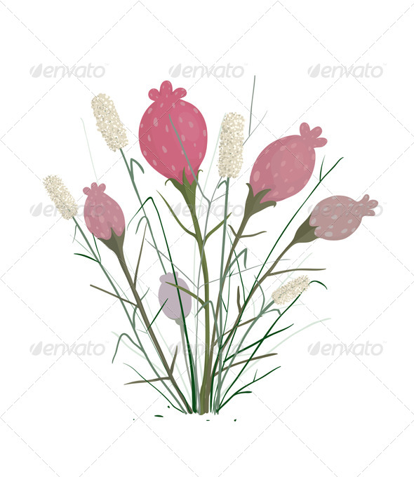 GraphicRiver Spring Flowers Bouquet 7220340