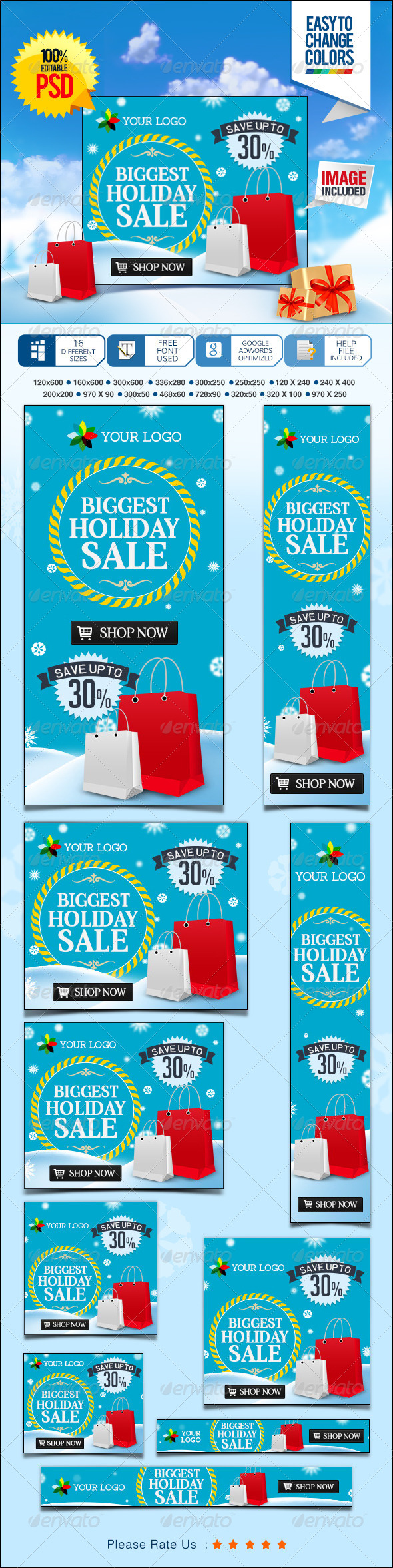 GraphicRiver Holiday Sale Banners 7220644