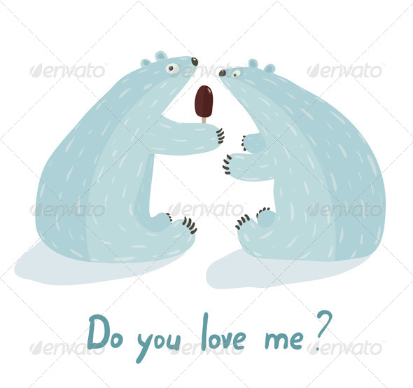 GraphicRiver Polar Bears Love and Ice Cream 7221099