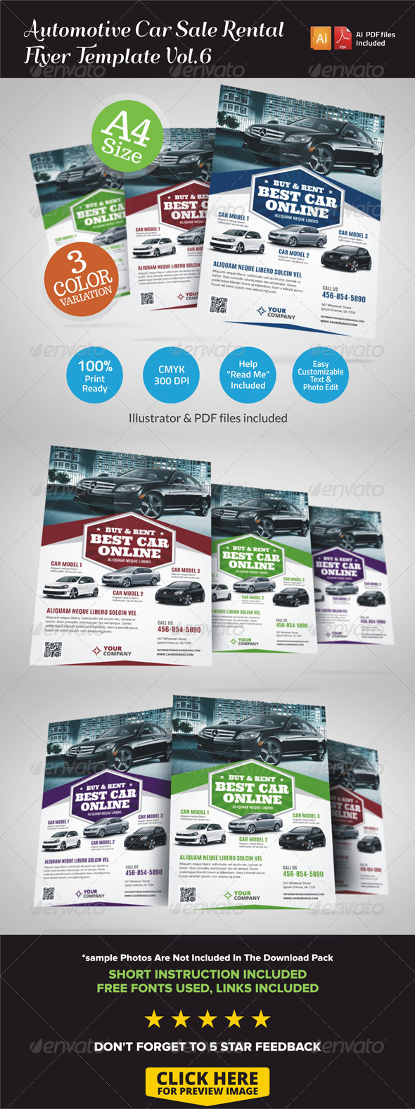 GraphicRiver Automotive Car Sale Rental Flyer Ad Vol.6 7221221