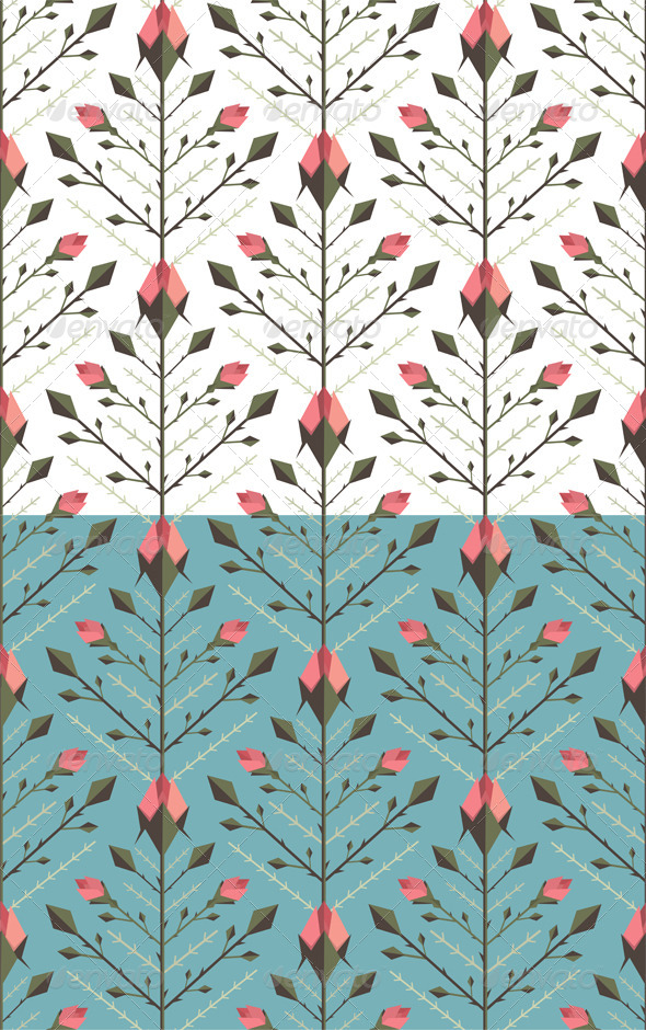 GraphicRiver Graphic Roses Pattern Background 7221269