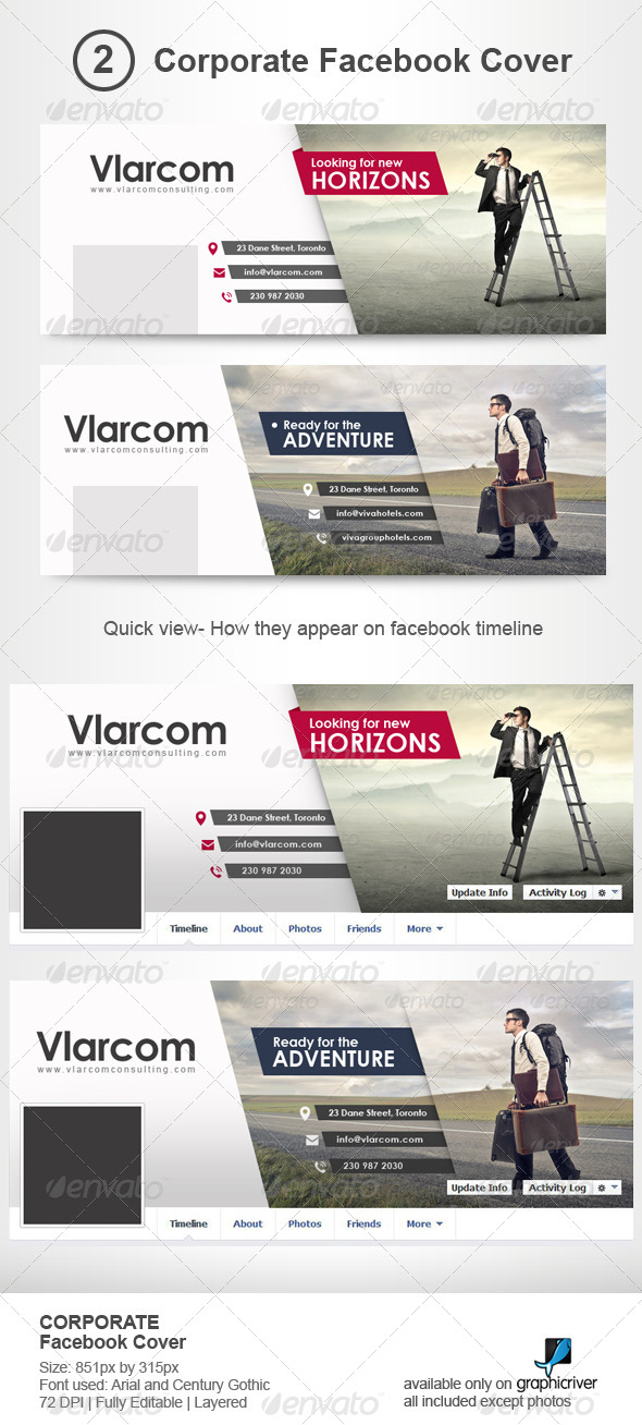 GraphicRiver Corporate Facebook Timeline Covers 7221360