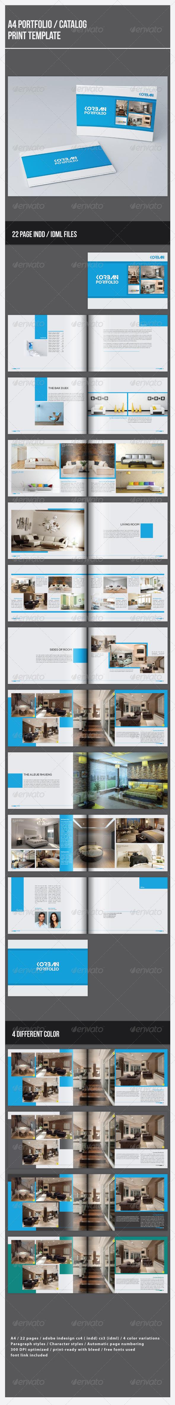 GraphicRiver A4 Portfolio Catalog Template 7221468