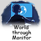 World through Monitor - GraphicRiver Item for Sale