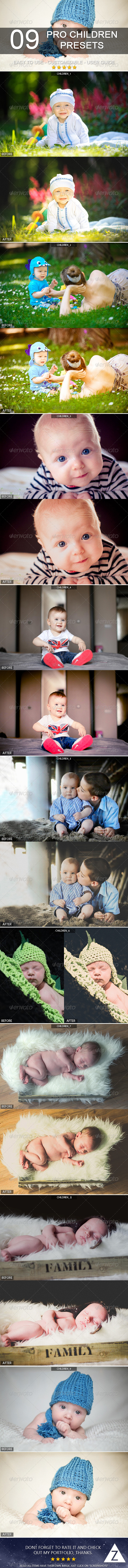 GraphicRiver 9 Pro Children Presets 7221615