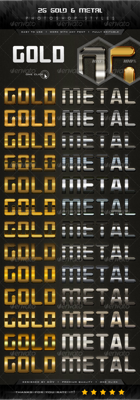 GraphicRiver 26 Gold & Metal Styles 7222217