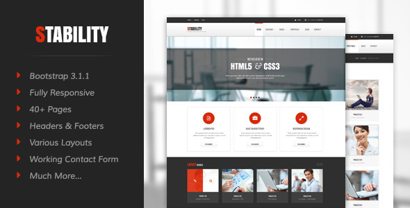 ThemeForest Stability Responsive HTML5 CSS3 Template 7222255