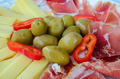 Prosciutto, cheese and olives - PhotoDune Item for Sale