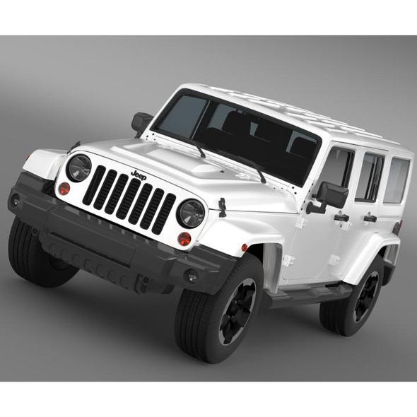 3DOcean Jeep Wrangler Polar 2014 7222350