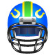 Football helmet with horseshoe - GraphicRiver Item for Sale