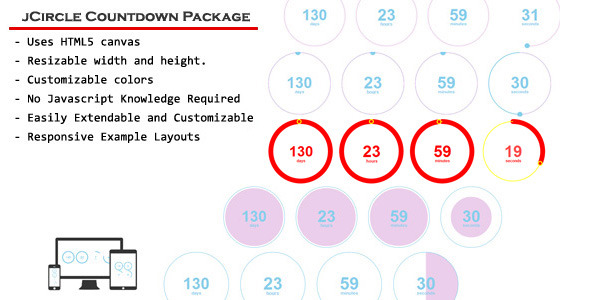 CodeCanyon jCircle Countdown Package Responsive jQuery Plugin 7166055