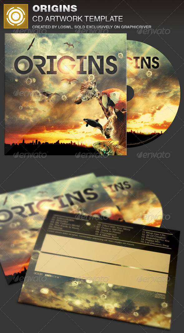 GraphicRiver Origins CD Artwork Template 7222671