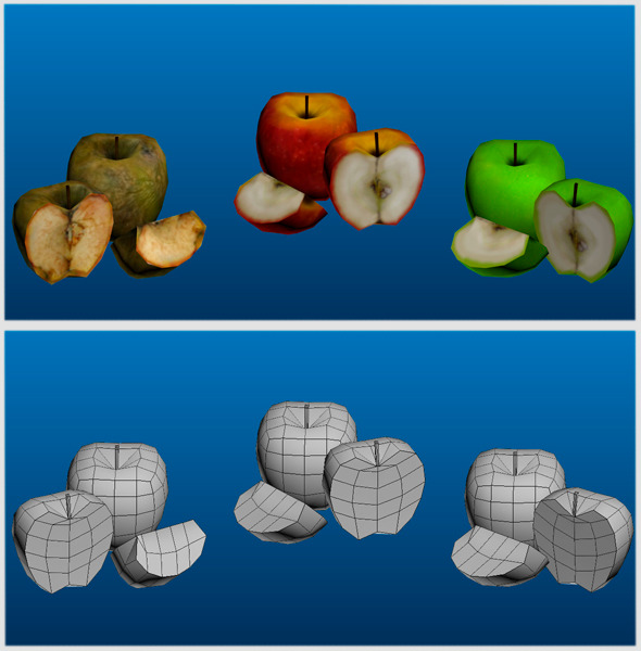 3DOcean Apple s Low Poly Pack 7222688