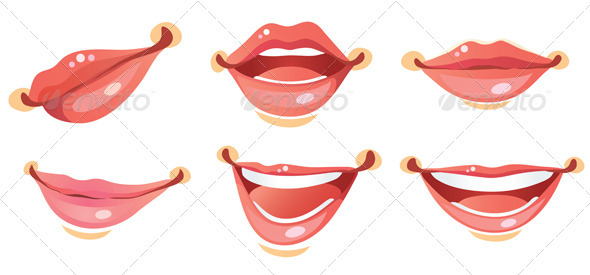 Graphic River Sexy Smile Woman lips Vectors -  Characters  People 756579