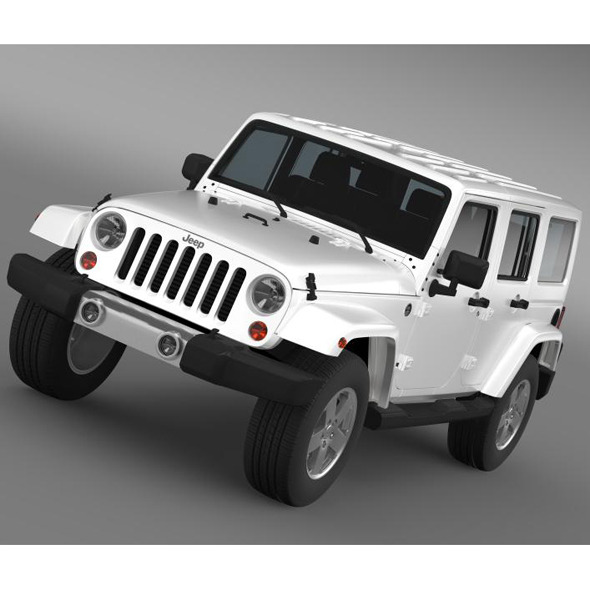 3DOcean Jeep Wrangler Unlimited 2011 7222858