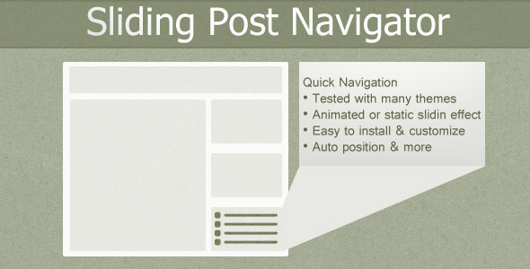 CodeCanyon Sliding Post Navigator 7174007