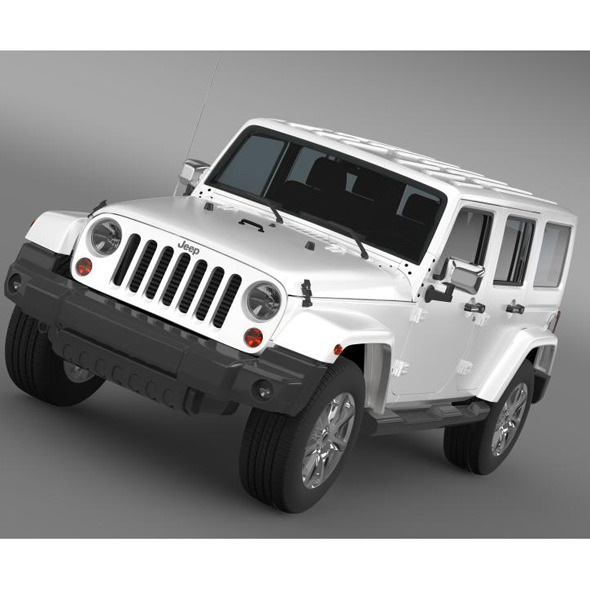 3DOcean Jeep Wrangler Unlimited Indian Summer 2014 7222926