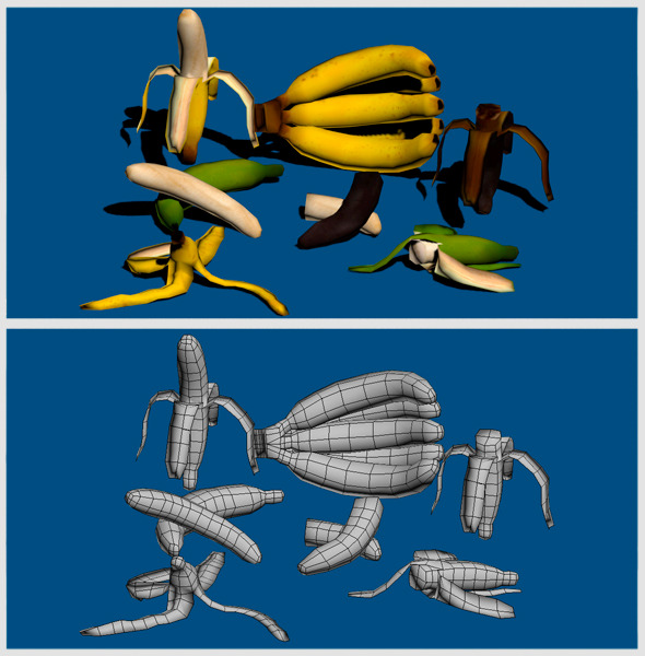 3DOcean Banana s Low Poly Pack 7223032