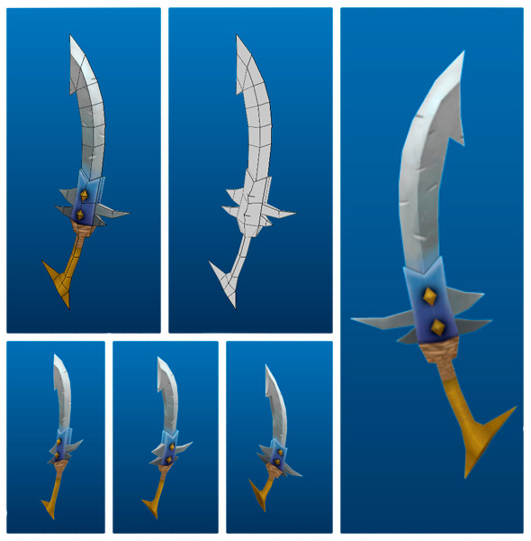 3DOcean Stylish Sword 04 7223049