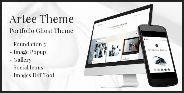 ThemeForest Artee Portfolio Ghost Theme 7223054