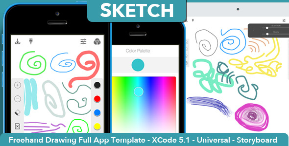 CodeCanyon Sketch Full Freehand Drawing App Template 7223072