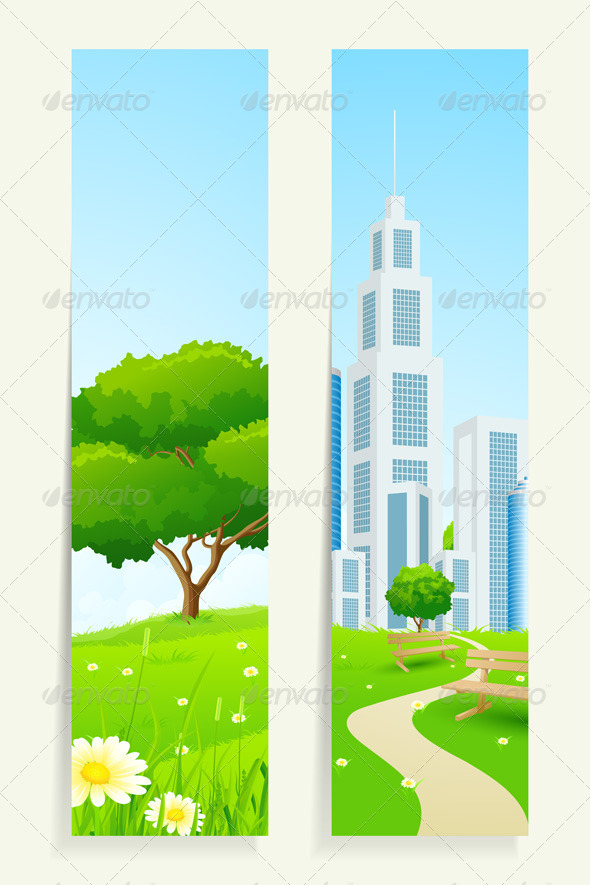 GraphicRiver Two Vertical Banners with Nature 7223075