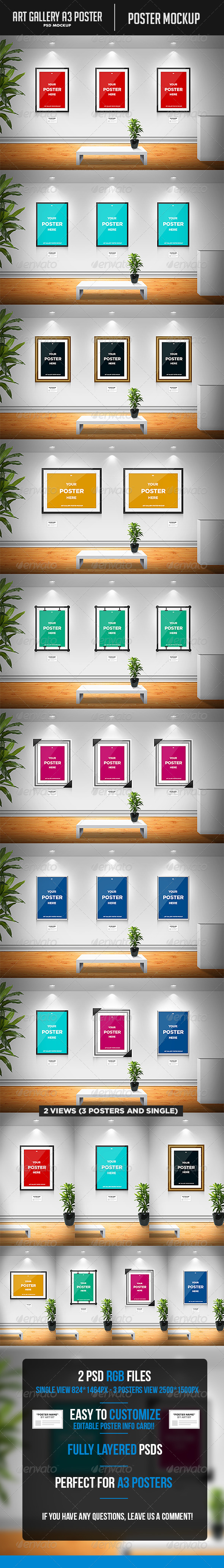 GraphicRiver Art Gallery A3 Poster Mockup 7223082